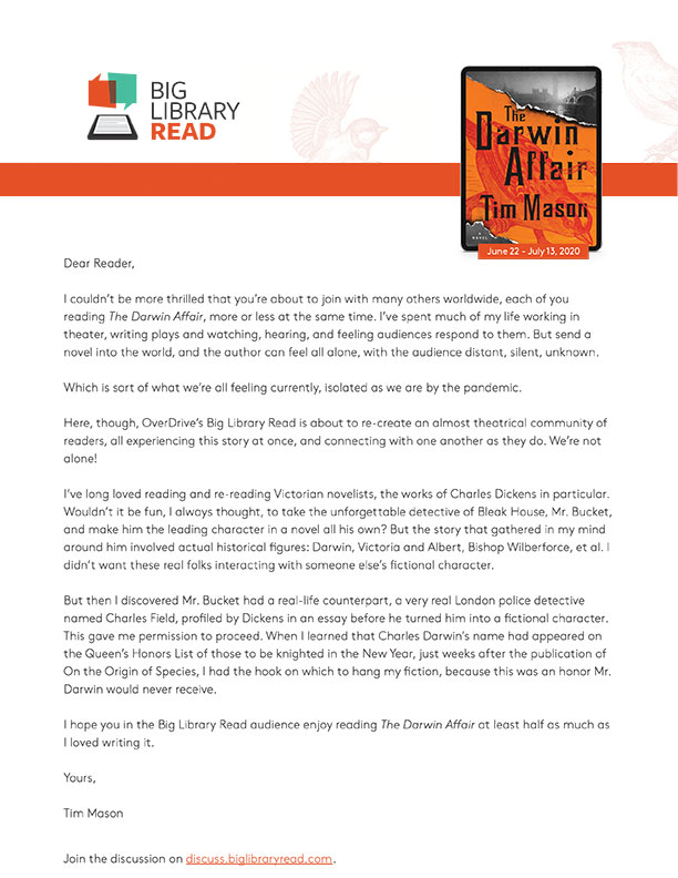 Letter from author
